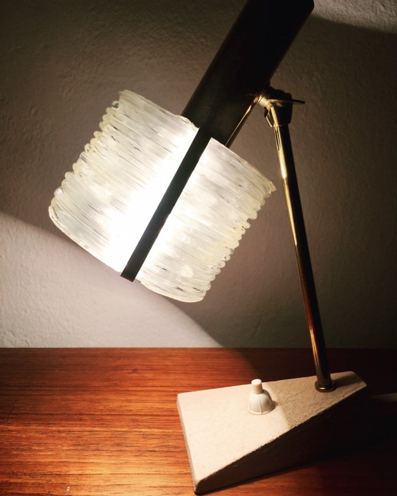 Beautiful Mid Century Modern brass table lamp but