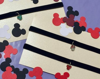 Color Mickey and Minnie Chokers
