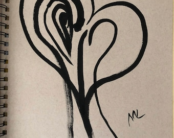 Ink Sketch - 'Asynchronous Love' \