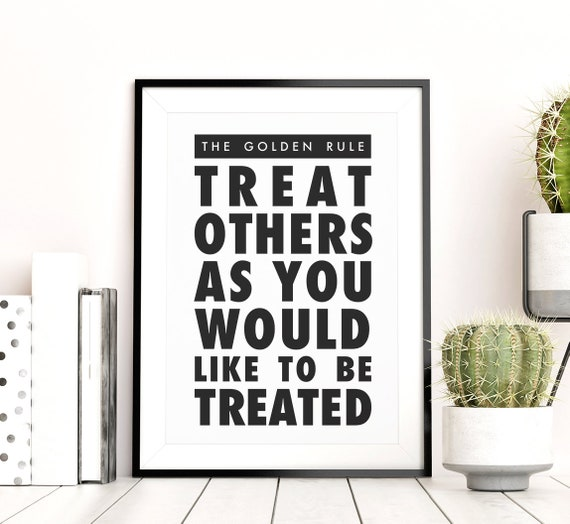 picture regarding Golden Rule Printable titled The Golden Rule Printable Wall Artwork, Downloadable Bible Quotation Signal, Matthew 7:12, Minimalistic Typography Poster, Small children Area Decor