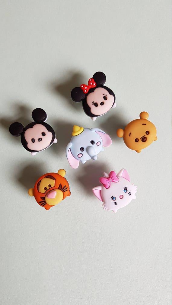 Tsum Tsum Style Disney Caractère Pin Mignon Kawaii Tigger Winnie Mickey Minnie Dumbo Marie Pelpel Pin Hat Pin Pin Badge Basing Filler