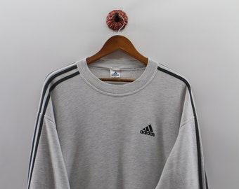 ADIDAS drie strepen Sweatshirt Jumper Unisex XLarge Adidas apparatuur  Pullover Crewneck Sport Unisex maat XL 7112589f2147