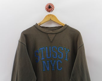 fd2d18e7bf47 STUSSY NYC Pullover Stussy Unisex Large Big Logo Spell Out Streetwear  STUSSY Sweatshirts Sweaters Mens Size L
