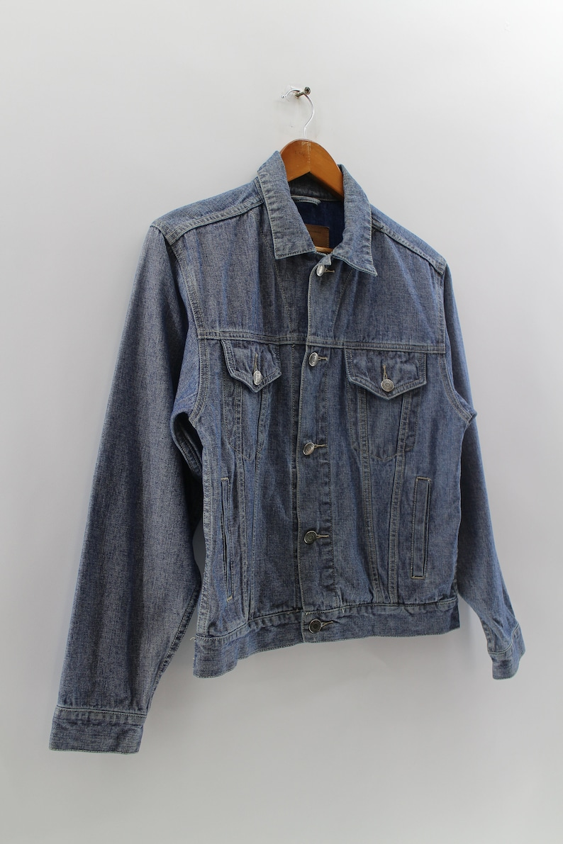 Vintage 90s GAP Jeans Small Jacket USA Production Youth Ladies GAP Denim Full Button Double Pocket Jacket Jeans Size S