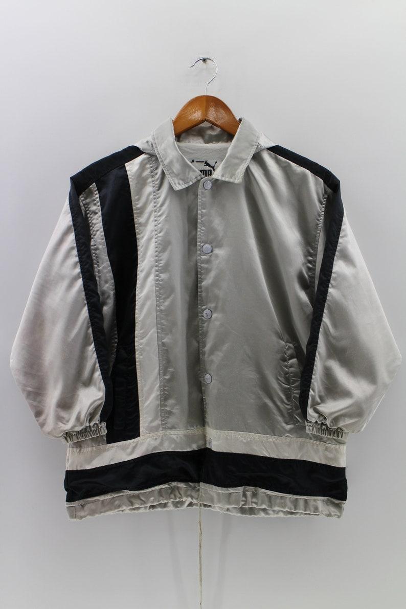 95afa980403f8 PUMA Hoodies Jacket Full Button Medium Unisex Windbreaker Sportswear Puma  Crewneck Multicolor Activewear Jacket Size M