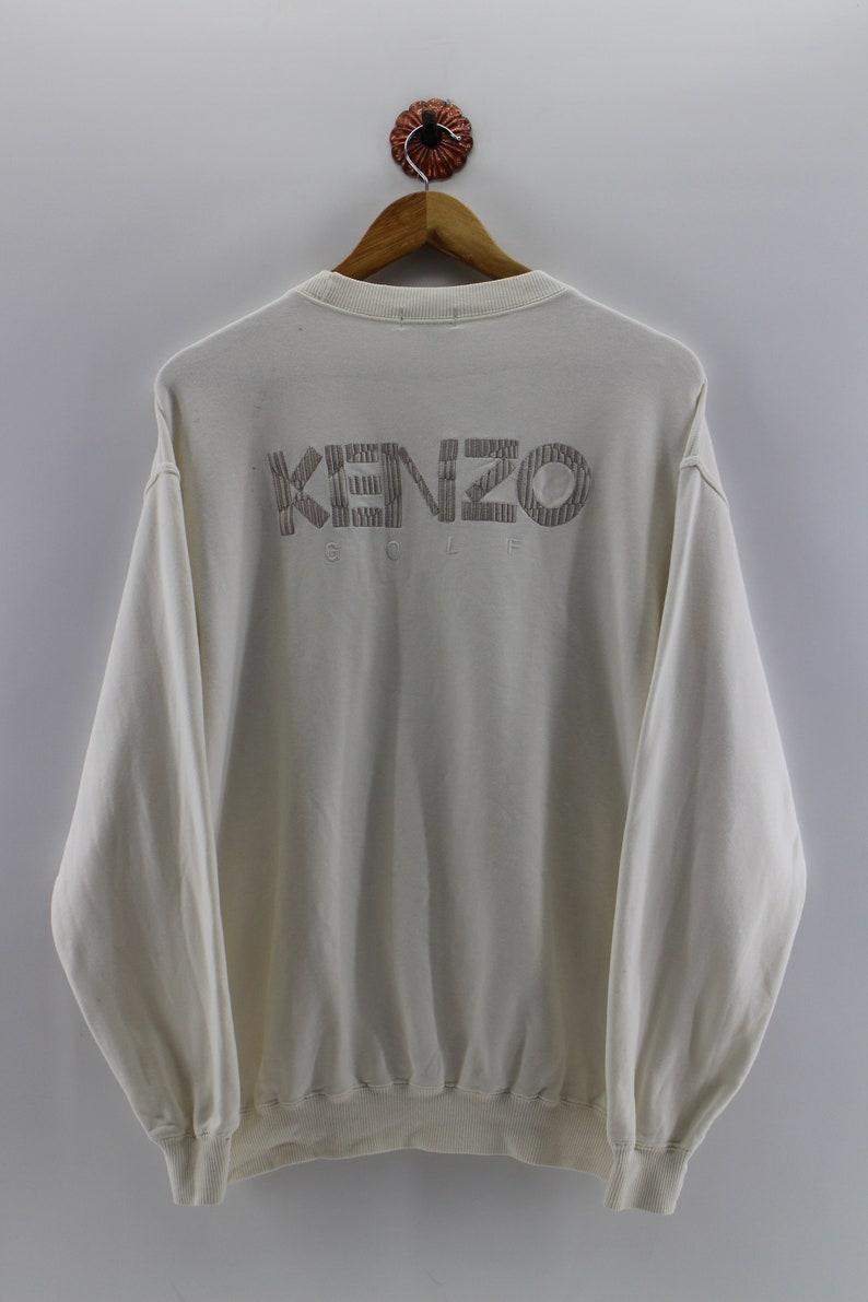 5e3195a4 KENZO PARIS GOLF Pullover Sweatshirt Unisex Kenzo Paris White | Etsy