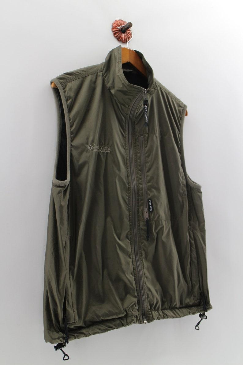 Vintage COLUMBIA Sportwear Windbreaker Sleeveless Unisex Medium Columbia Zipper Sweater USA Hiking Company Columbia Jacket Size M