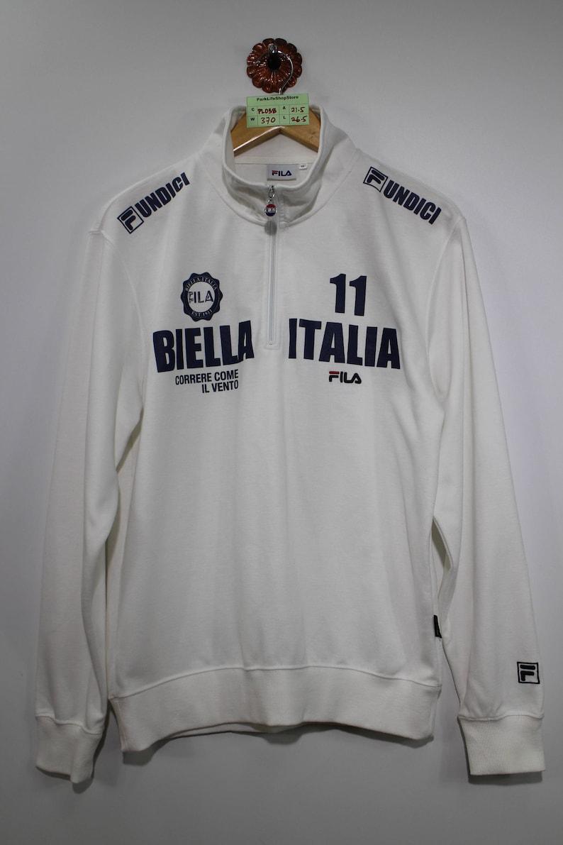 4a44119212e4 FILA BIELLA ITALIA Light Sweatshirt Fila Zipper Sweater Unisex