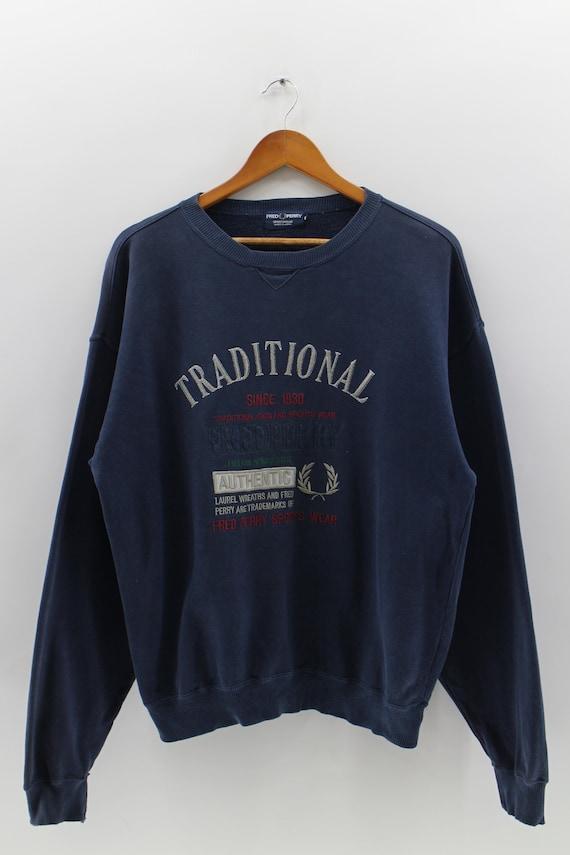 FRED PERRY 1930s Jumper Sweater Unisex Big Logo La