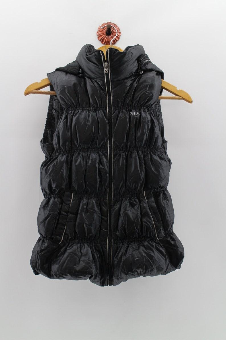 3aa3e7ca8d0cf Vintage 90 s FILA Bomber Vest Jacket Women Xsmall FILA