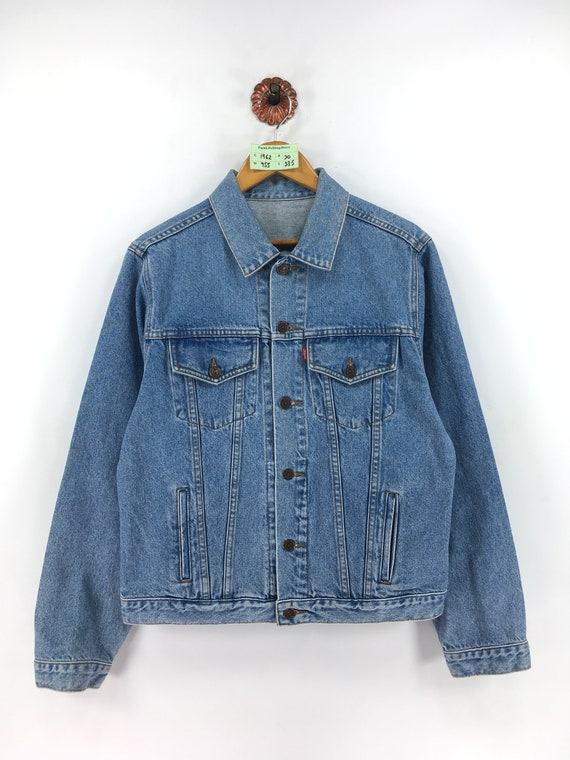 Vintage 90s LEVIS Trucker Denim Jeans Jacket Mediu