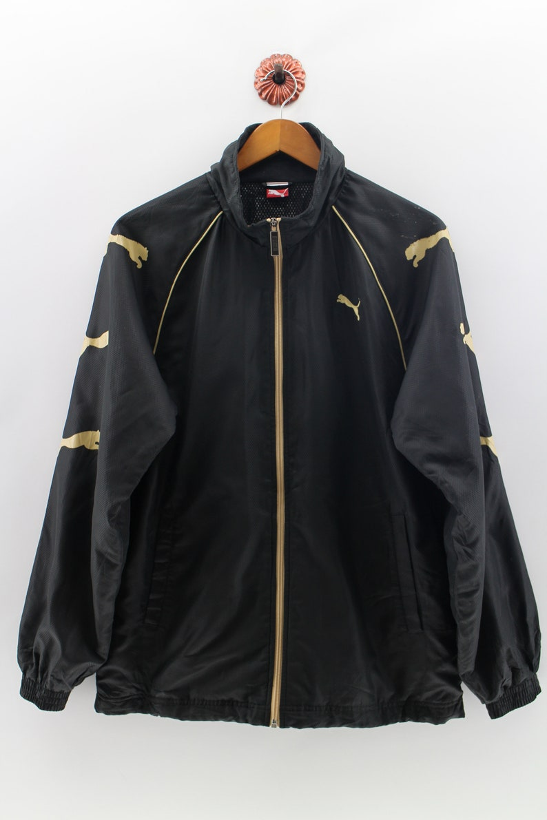 21b9a253bbb34 PUMA EQUIPMENT Jacket Unisex Large Puma Shoulder Logo Sportswear Jacket  Puma Windbreaker Zipper Sweater Size L