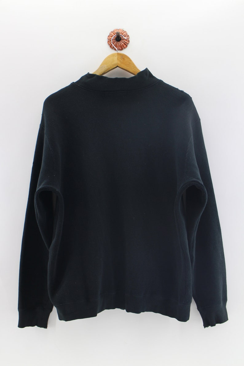 VAN JAC Sweater Unisex Black Van Jac Classic Japanese Designer Zipper Jumper Size L