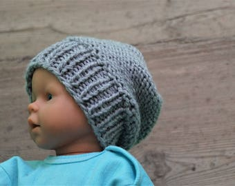 059fecbe129 Newborn slouchy Hat boy Slouchy Beanie chunky hat photo