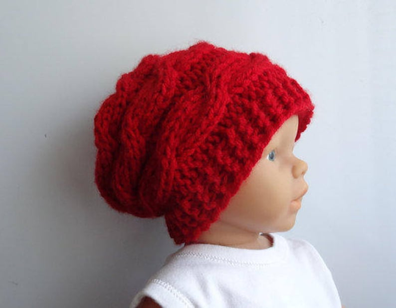 fdda9742fdd Newborn slouchy Hat boy Slouchy Beanie chunky hat photo