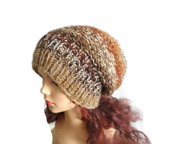 27c554af529 Big Baggy Hat Winter Fashion Chunky Knit Slouchy Knitted Hat