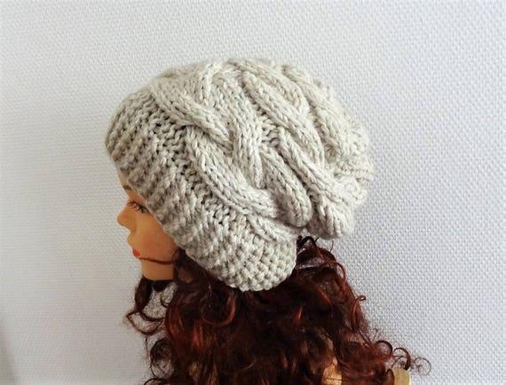 Super Slouchy Beanie Big Baggy Hat Winter Adult Teen Fashion  5e41e10d0b4