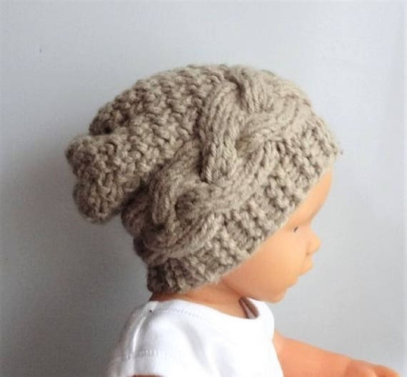 d4859b7766c Newborn Hipster Hat Baby Fall Winter sacking Hat Photo Prop