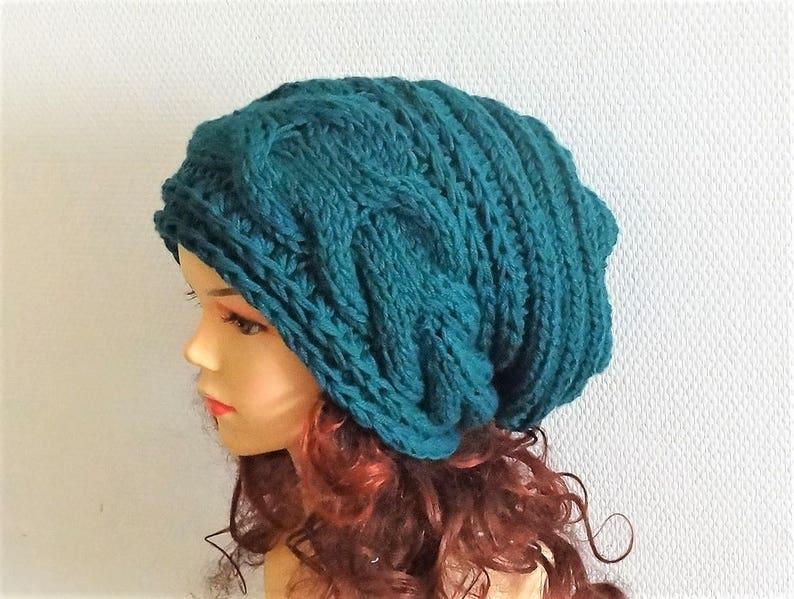 45828f83380 Super Slouchy Beanie Big Baggy Hat Winter Adult Teen Fashion