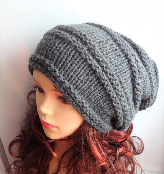 Para Mujer Damas Negro Cable Knit Beanie Hat Con Flor-un tamaño-Nuevo