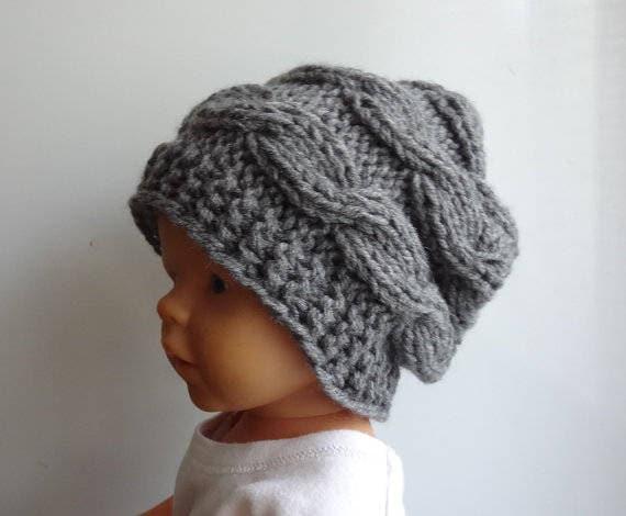 fdda9742fdd Newborn slouchy Hat boy Slouchy Beanie chunky hat photo