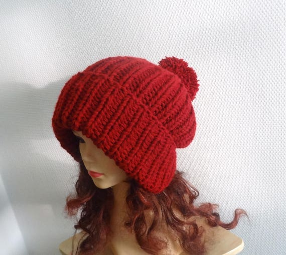 Super Slouchy Beanie Big Baggy Hat Slouchy with pompom Women  ad9f7eecb8e