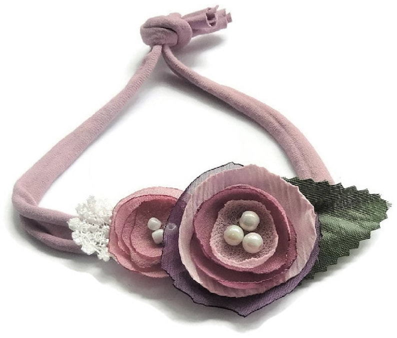 Newborn tieback newborn headband photo prop infant headband image 0