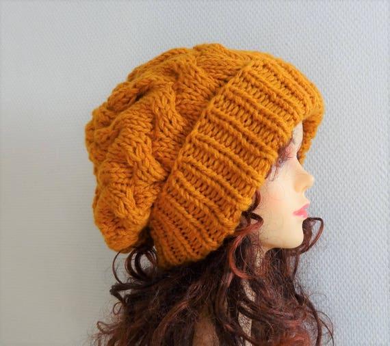 Unisex Knit Slouchy Hat Beanie Womens Hat Oversized Slouchy  12c26ca3c975