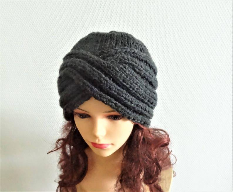 e7c72aee6ac Hand knit turban hat Knit women hat Fall Winter Accessories