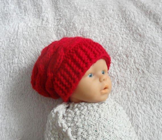 771f34f0933 Newborn slouchy Hat boy Slouchy Beanie chunky hat photo