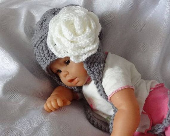 8e575926c82a5 Earflap Kids Hat Baby Girl Hat Newborn Hat Photo Prop Baby