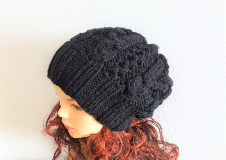 04de5512aff5e Unisex Big Baggy Hat Winter Teen Fashion Chunky Knit Slouchy Knitted Hat  Large Men beanie Oversized Hat black ...