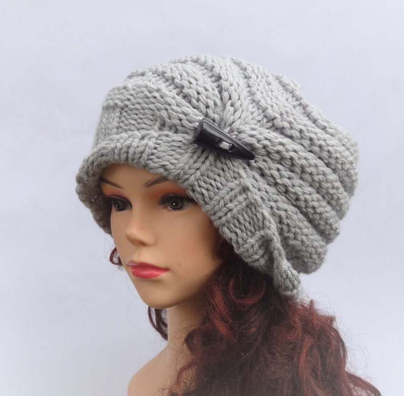1389e0793a3 Hand knit hat Knit women hat Fall women Fashion Knit Hat Women