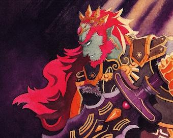 The Legend of Zelda Hyrule Warriors Ganondorf Postcard