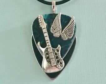 """Guitar Pick Necklace """"Mississippi River Stomp"""""""