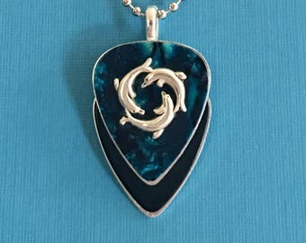 """Guitar Pick Necklace """"Heroes"""""""