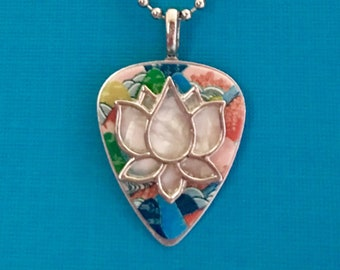 """Guitar Pick Necklace """"Ripple"""""""