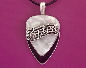 """Guitar Pick Necklace """"Rock and Roll"""""""