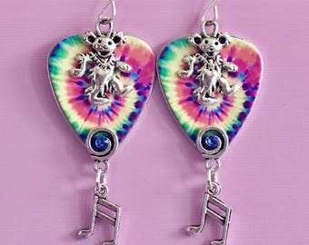 """Guitar Pick Earrings """"Playing In The Band"""""""