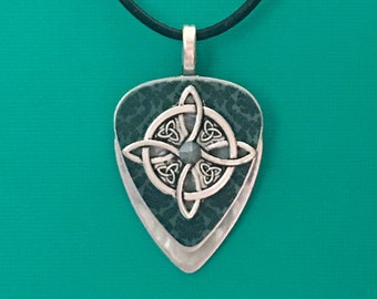"""Guitar Pick Necklace """"Heavy Connection"""""""