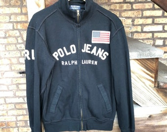 a9c1679721 Vintage Ralph Lauren Polo Jean Co. Zip Up Hoodie - Size Medium | Free  Shipping