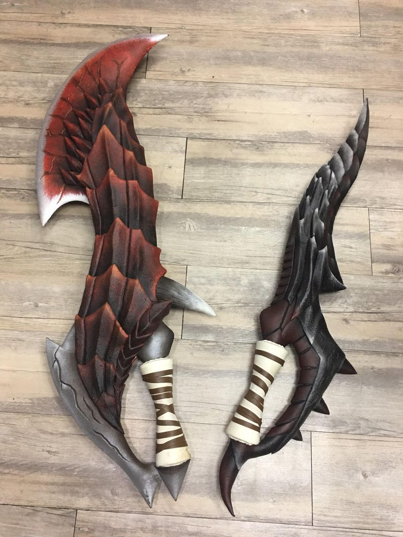 Monster Hunter Cosplay Props Weapons Dual Blades Etsy
