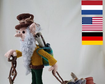 Crochet Pattern Mr Franklin Forge Steampunk Elf Crochet Etsy