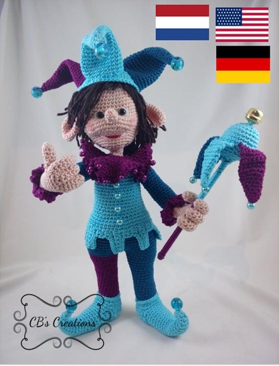 Rofl Haakpatroon Nar Crochet Pattern Jester Amigurumi Etsy