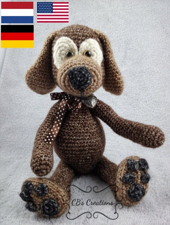Haakpatroon Hond Crochet Pattern Dog Hondje Tanja Little Etsy