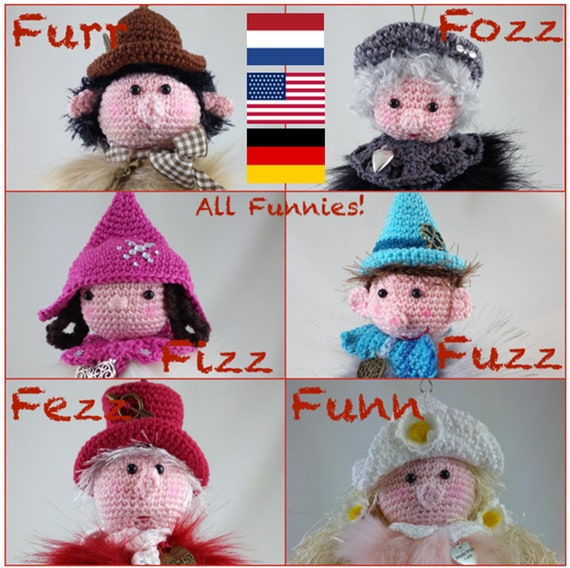 All Funnies Fur Pompon Crochet Bont Pompon Haken Pelz Etsy