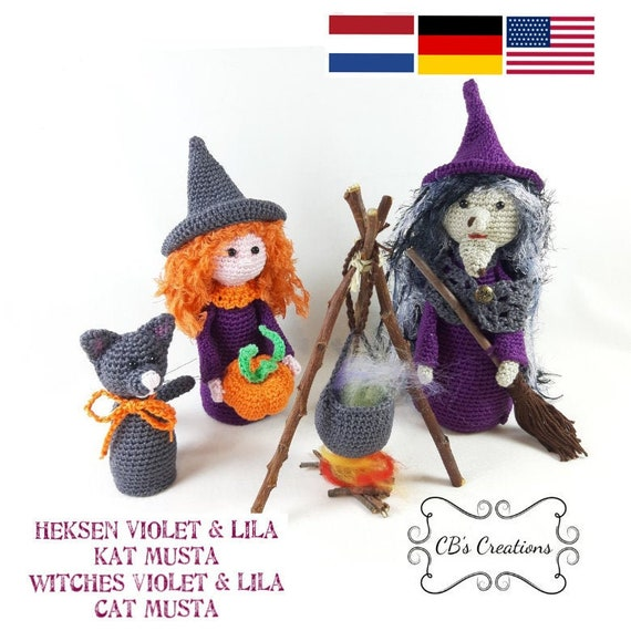 Halloween Witches: Crochet Pattern Roundup! - AmVaBe Crochet | 570x570
