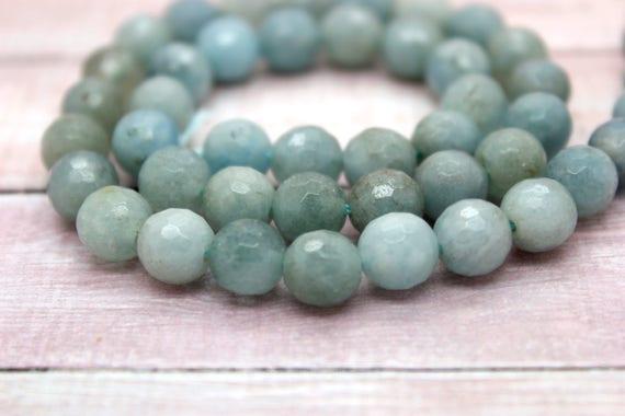 Superb 6mm Light Blue Aquamarine Gemstones Loose Beads 15 /'/'
