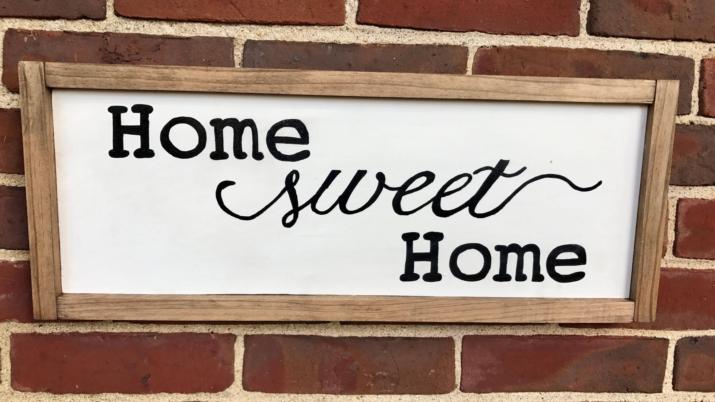 Home sweet home sign home sweet home rustic sign farmhouse ...