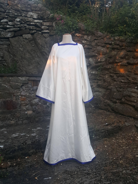 Cotton TrimTraditionalEtsy Ritual Tau Robe With Satin PuiXZk